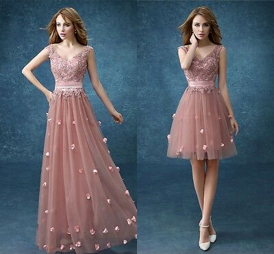 New Lace Evening Cocktail Formal Party Ball Bridesmaid Wedding Prom Gown Dress
