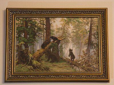 """Embroidery """"Morning in a Pine Forest"""", Ivan Shishkin"""