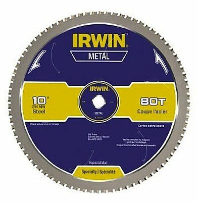 IRWIN Tools Metal-Cutting Circular Saw Blade, 10-inch, 80T (4935561)