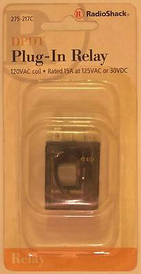 RadioShack 275-217 DPDT Plug-In Relay ~ Coil: 125VAC ~ Contacts: 10A at 125VAC