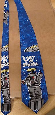 Lost In Space B 9 B-9 Robot 100% Silk tie excellent cond 1998 New Line Picture