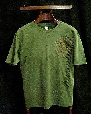 T-Shirt Med Green Tanqueray Mens Short Sleeve 100% Cotton New Old Stock