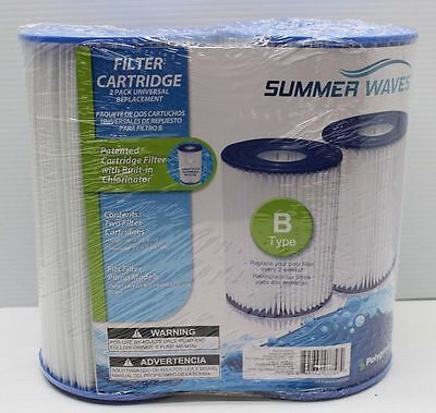 Summer Waves Type B Filter Cartridge Swimming Pool Pumps 2 Pack BRAND NEW
