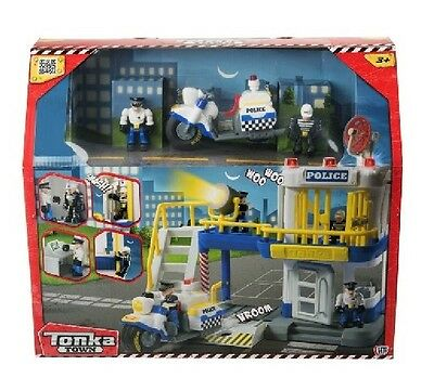 Tonka Town Prison Playset Figures and Police Bike Included New Gift Toy