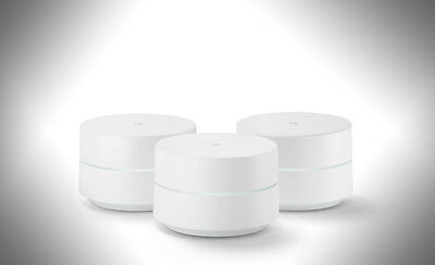 New Google WiFi Smart Mesh Router 1-Pack & 3-Pack, 1 Yr US Warranty, Global Ship