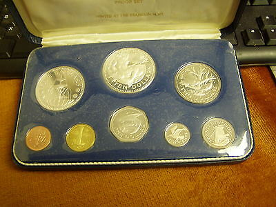 1973 First National Coinage of Barbados 8 Coin Proof Set
