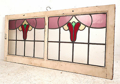 Vintage Stained Glass Window Panel (3119)NJ