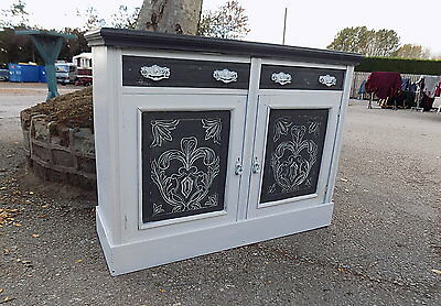 Painted  Shabby Chic  Sideboard Cabinet Cupboard