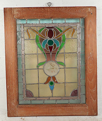 Vintage Stained Glass Window Panel (3143)NJ