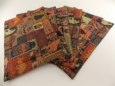 Placemats Cloth African Design Set Of 6 Quilted