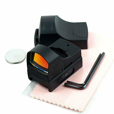 Tactical Mini Compact Holographic Reflex Micro Red Dot Sight Scope Rifle TMPG