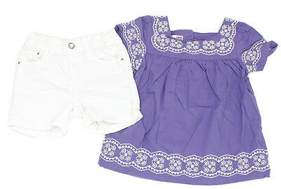 H&M Jeans-Shorts und Bluse Folklore - 98