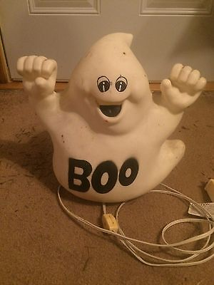 Vintage Ghost Boo 11 Inches Blow Mold Holiday Halloween Yard Decor