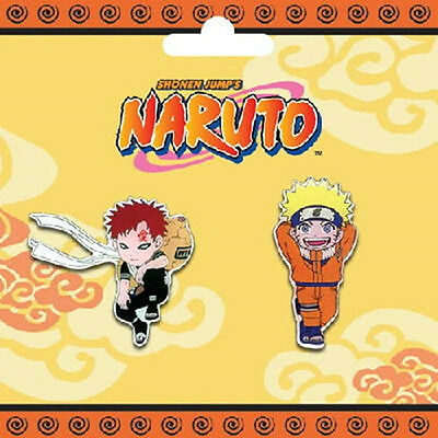 Naruto Gaara and Naruto Full Figure Metal Enamel Pin Set of Two, NEW SEALED