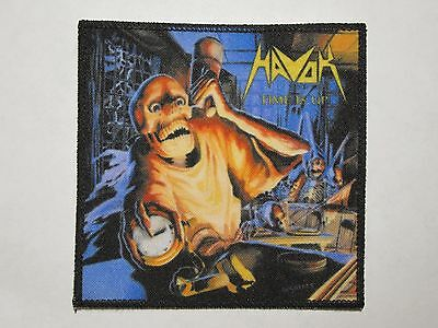 HAVOK Time Is Up new printed patch thrash metal