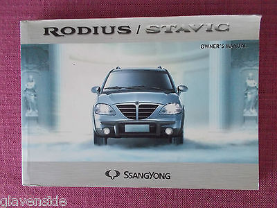Ssangyong Rodius Owners Manual - Owners Guide - Owners Handbook (Ss 6)