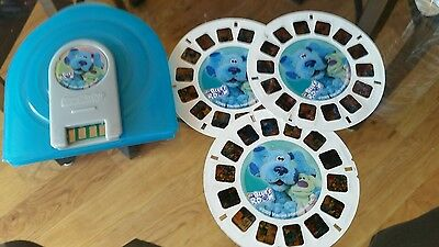 Blue's Room Blue's Clues ~ Super Sounds Talking View-Master 3 Reel Set