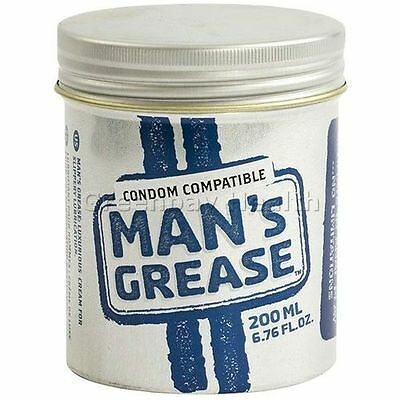 Doc Johnson Man's Grease Water Based Cream Personal Lubricant Lube 200ml