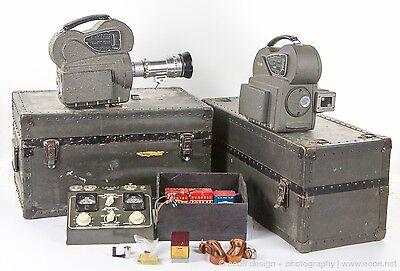 AURICON CINE-VOICE CM-72 & CM-72A 16mm SOUND MOVIE CAMERAS, RECORDING AMP & MORE