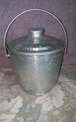 VTG Made in Italy Hammered Aluminum Double Walled Ice Bucket