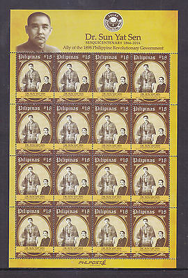 Philippines Stamps 2016 MNH Dr. Sun Yat Sen 150th Birth Anniversary sheetlet