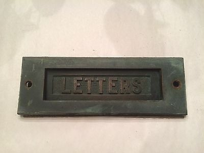 Antique Vintage Old Hardware Brass Letters Door Slot Reclaimed Architectural
