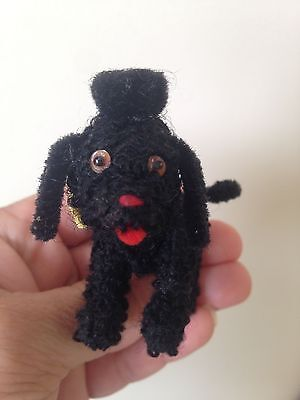 RARE Schuco Black Poodle Dog Noah's Ark Arche Animal Metal Body & Face Germany