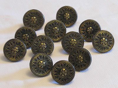 12 Vintage Allison Drawer Cabinet Door Pulls Knobs Brass Bronze JAPAN