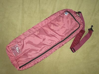 EUC~Mauve DURA-TECH Padded X-LONG Halter Headstall Bridle Bag Carrier w/SIDE ZIP