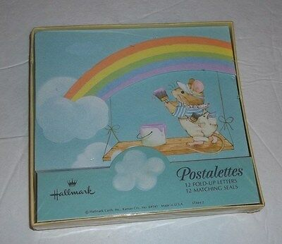 Vintage Hallmark Postalettes 12 fold up letters and seals NEW in package