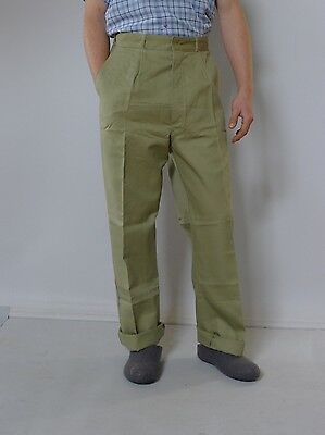 Vintage retro true 1960s L 7 95 cm unused mens King Gee pants tags Australia