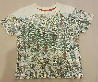 toddler clothes wheres wally top size 1 1/2 to 2 years puzzle top xmas snow