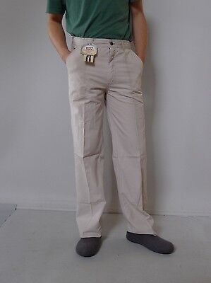 Vintage retro true 80s 4 S unused Levi's mens high waisted pants beige