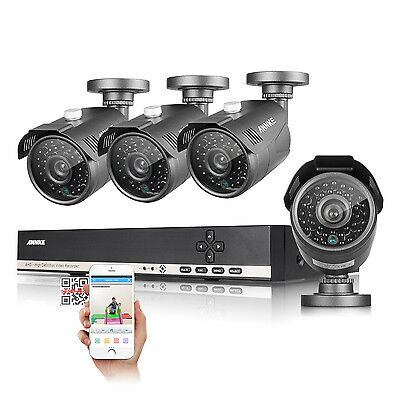 ANNKE 8CH 1080N HD Video DVR 1800TVL Outdoor IR CUT Home Security Camera System