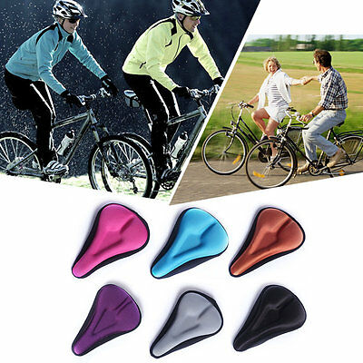 Silica Gel Bike Seat Bicycle Saddle Mat Comfortable Cushion Seat Cover A34 AU