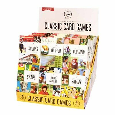 CLASSIC CARD GAMES - Ladybird Artwork - 6 Different Kids 1950's Favourites **NEW