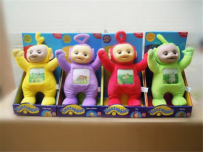 4PCS Teletubbies Set Po Dispy Laa Laa Tinky Winky Soft Plush Stuffed Doll Toys s