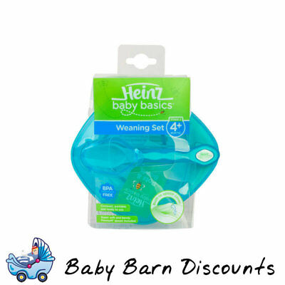 Heinz - Baby Basics Weaning Bowl Set (Stage 2) for 4m+ - Blue