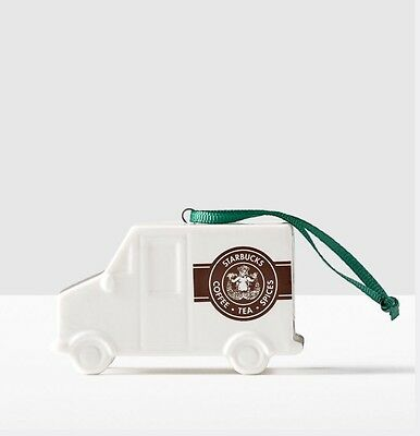 2016 Starbucks Vintage Siren Pike Place Delivery Truck Christmas Ornament.