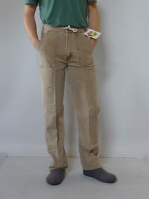 Vintage retro true 70s unused 32 S mens brown cotton pants Lee Cooper NOS tags