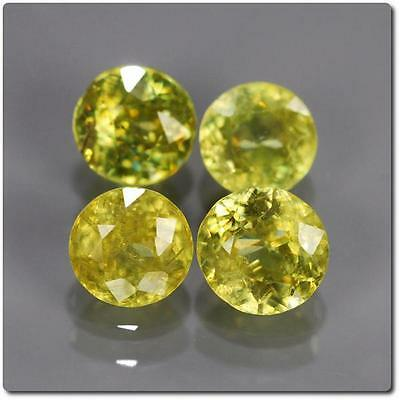 SPHENE MULTICOLORED 4 pieces 1.41 cts . SI1-I1. Madagascar