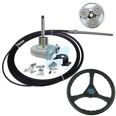 14 FT Outboard Marine Steering System Planetary Gear With Cable Wheel