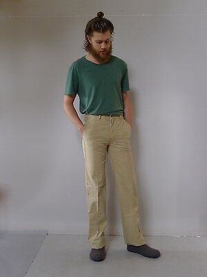 Vintage retro true 1970s unused 31 S mens high waisted pants Lee Cooper