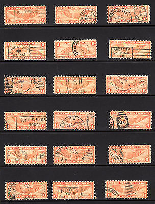 US Sc# C19 USED LOT, SIX 6 cent, Some Very Nice Cancels