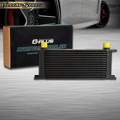 UK 16 ROW AN-10AN Universal Engine Transmission Oil Cooler Black