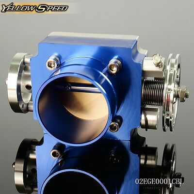 "UK Alloy Aluminum Universal CNC Billet Intake Throttle Body 65mm 2.5""inch Racing"