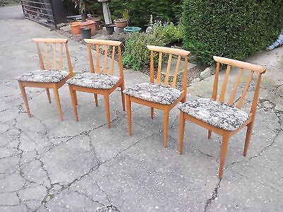 Chair:Lovely set of four Teak Elliot's of Newbury Scandinavian influenced chairs