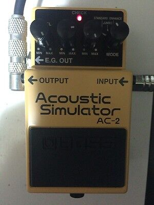 Boss AC-2 Acoustic simulator Guitar Effect Pedal 1998 with Box Free Ship