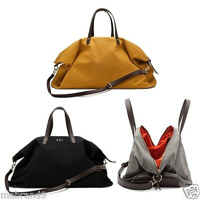 $175 Cuyana Canvas And Leather Weekender Holiday Bag Black Or Mustard Clearance