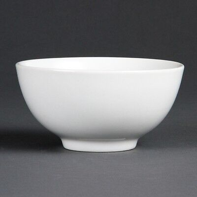 12x Olympia Whiteware Rice Bowls 130mm Kitchen Serving Dish Tableware Restaurant